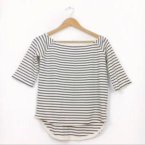Zara   Striped Knit Boatneck Top size Small
